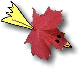 Leaf Creature design available from free-kid-crafts book