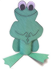 Toilet paper roll frog available from free-kid-crafts book